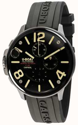 U-Boat Capsoil 45 SS chrono / c黑色橡胶表带 8111/C