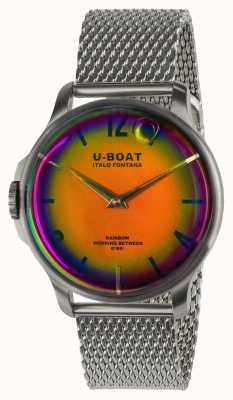U-Boat 男士彩虹44mm  橙色 不锈钢表壳 米兰手链 8469/MT