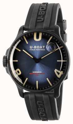 U-Boat Darkmoon 44mm皇家蓝色ipb /橡胶表带 8700