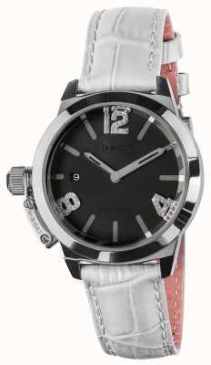 U-Boat Classico 38黑色表盘白色皮革表带 8482