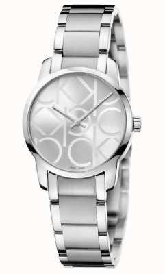Calvin Klein 城市|女士不锈钢手链|银色表盘 K2G23142