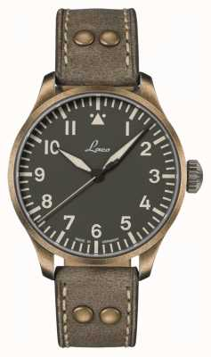 Laco 奥格斯堡橄榄 42  限量版 橄榄色皮表带 862127