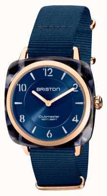 Briston Clubman别致|玫瑰金36毫米海军蓝色表盘|海军蓝色北约表带 21536.PRA.UB.33.NMB
