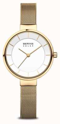 Bering Solar女士镀金网眼手链腕表 14631-324