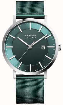 Bering 太阳能男士绿色表盘日期手表 15439-808