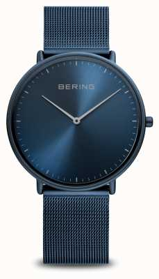 Bering 经典蓝色钢网手链 15739-397