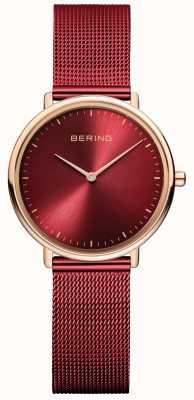 Bering 经典女士红玫瑰金腕表 15729-363