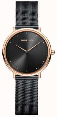 Bering 女士经典黑色网眼手表 15729-166