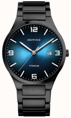 Bering 男士镀黑钛金属腕表 15240-727
