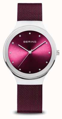 Bering 经典 女式 抛光银 紫色网 12934-909