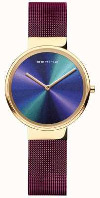 Bering 经典 女式 紫色网眼 多色表盘 19031-929