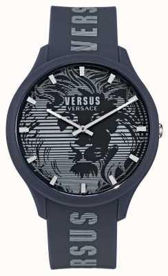 Versus Versace 男士 domus 蓝色硅胶表带手表 VSP1O0221