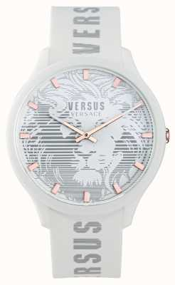 Versus Versace 男士 domus 白色硅胶表带手表 VSP1O0421