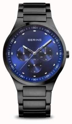 Bering 经典|男装黑色拉丝|蓝色表盘 11740-727