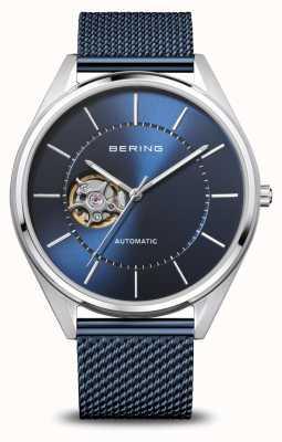 Bering 自动|男装抛光/拉丝银|蓝色表盘 16743-307