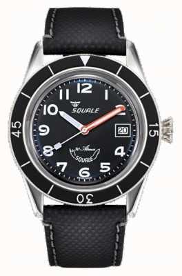 Squale 子39 |黑色阿拉伯语| 高分辨率照片| CLIPARTO黑色表盘|黑色皮表带 SUB-39MON