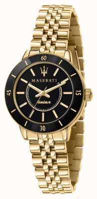 Maserati 女士后继太阳能黑金腕表 R8853145503