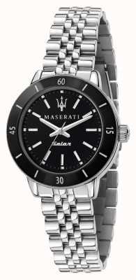 Maserati 女士后继太阳能黑色表盘手表 R8853145506