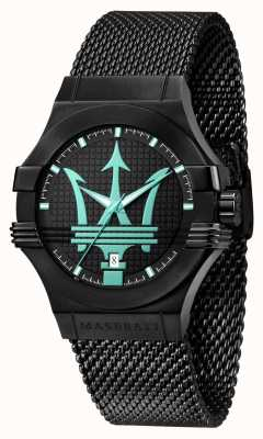 Maserati Potenza aqua 版黑色网眼手链 R8853144002