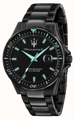 Maserati Sfida aqua 版黑色镀金手表 R8853144001