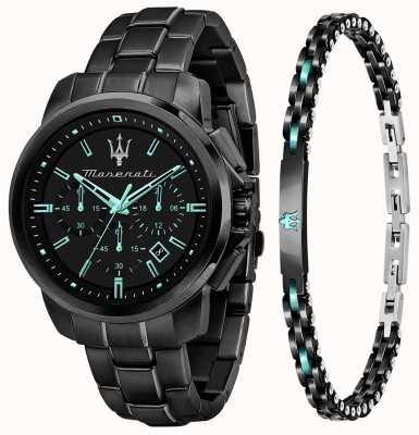 Maserati Aqua 版男士礼品套装手表和手链 R8873644004
