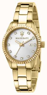 Maserati 女士竞争镀金腕表 R8853100506