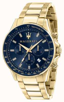 Maserati Sfida 男士镀金腕表 R8873640008
