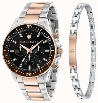 Maserati Sfida 男士礼品套装手链和手表 R8873640010