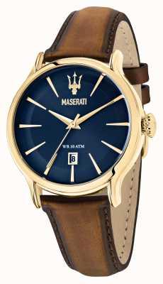 Maserati Epoca 男士棕色皮革表带 R8851118012