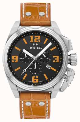 TW Steel Canteen 橙色皮表带腕表 TW1012