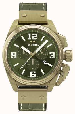 TW Steel Canteen 青铜 pvd 镀绿色表盘 TW1015