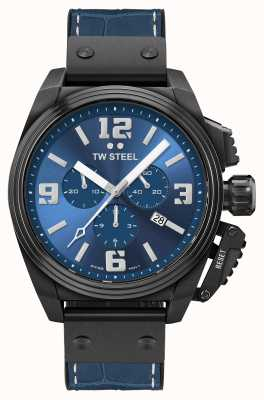 TW Steel Canteen 黑色 pvd 镀蓝色表盘 TW1016