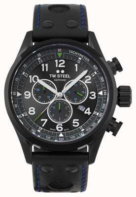 TW Steel 瑞士 volante 黑色皮革表带 SVS306
