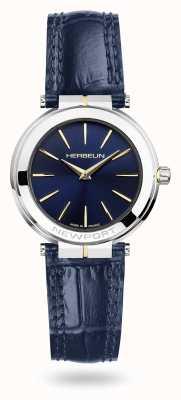 Michel Herbelin 纽波特女士蓝色皮表带蓝色表盘手表 16922/T15BL