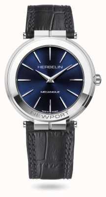 Michel Herbelin 纽波特超薄 42 毫米蓝色表盘手表 1222/AP15
