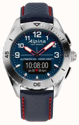 Alpina |高山 |智能手表 |蓝色皮表带| AL-284LNNR5SSAQ6L