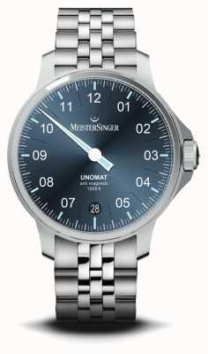 MeisterSinger Unomat 蓝色太阳纹表盘不锈钢腕表 UN917