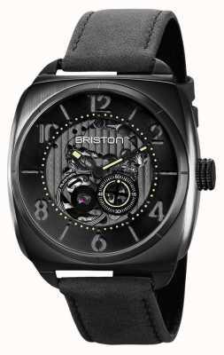 Briston Clubmaster 骷髅黑色 pvd 手表 211042.SPB.SK.1.CH