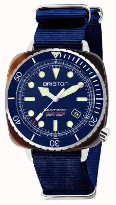 Briston Diver pro 醋酸纤维海军蓝北约表带 21644.SA.T.15.NNB