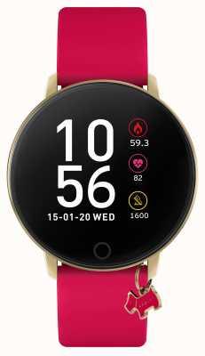Radley 智能手表系列 5 覆盆子粉色表带和狗饰 RYS05-2036