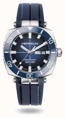 Michel Herbelin 纽波特潜水员蓝色橡胶表带 1774/BL15CB