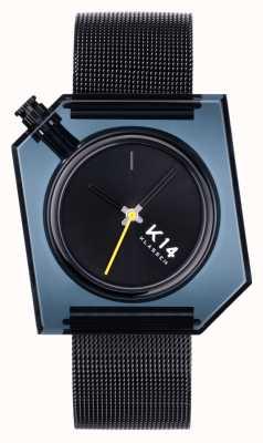 Klasse14 K14 深色 40 毫米黑色米兰尼斯网状手链 WKF20BK001M