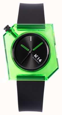 Klasse14 K14 绿色 avo 40mm 黑色硅胶表带 WKF19GN001M