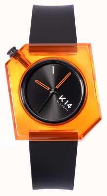 Klasse14 K14 think 橙色 40mm 黑色硅胶表带 WKF19OE001M
