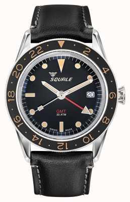 Squale 男士 300m sub 39 gmt 复古皮革表带 SUB-39-GMT-V