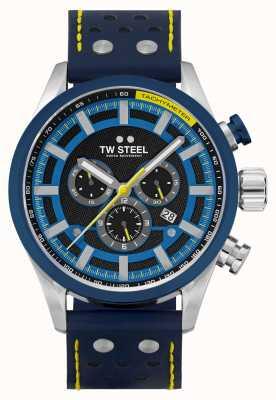 TW Steel Volante 快车道蓝色皮表带 SVS208