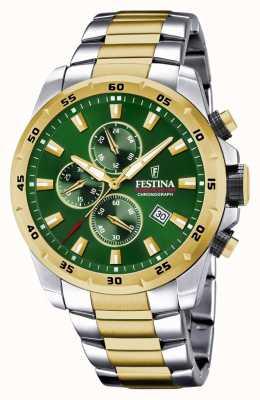 Festina 男士计时码表绿色表盘腕表 F20562/3