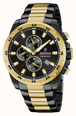 Festina 计时码表镀黑不锈钢腕表 F20563/1