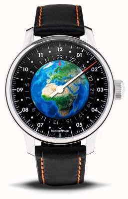 MeisterSinger 版行星地球 世界自然基金会汽车  黑色素食表带 ED-EARTH