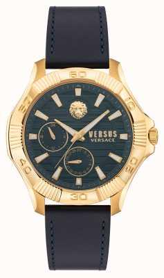 Versus Versace 对比 dtla 蓝色皮表带 VSPZT0221